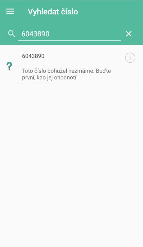 Telefonní číslo nebylo nalezeno
