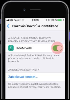 Povolení aplikace pro blokování